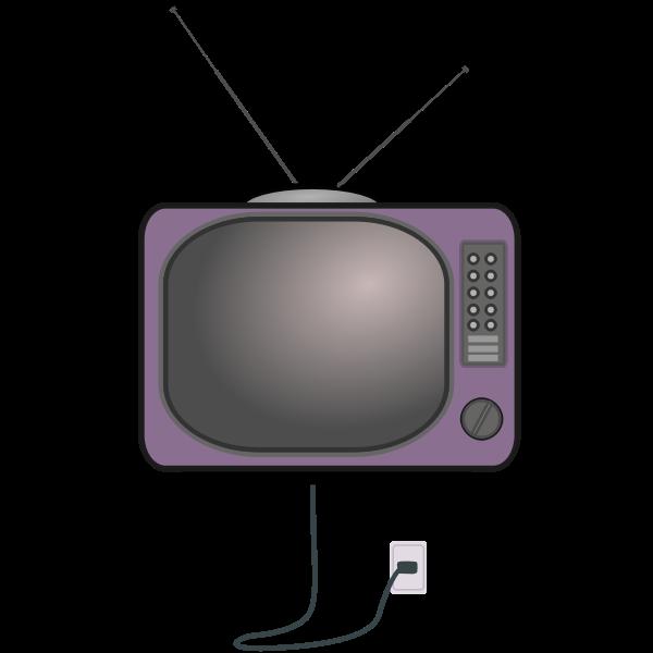 Low detail, old TV set
