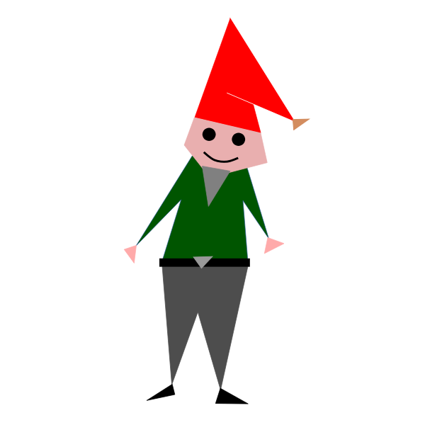 Triangular christmas elf