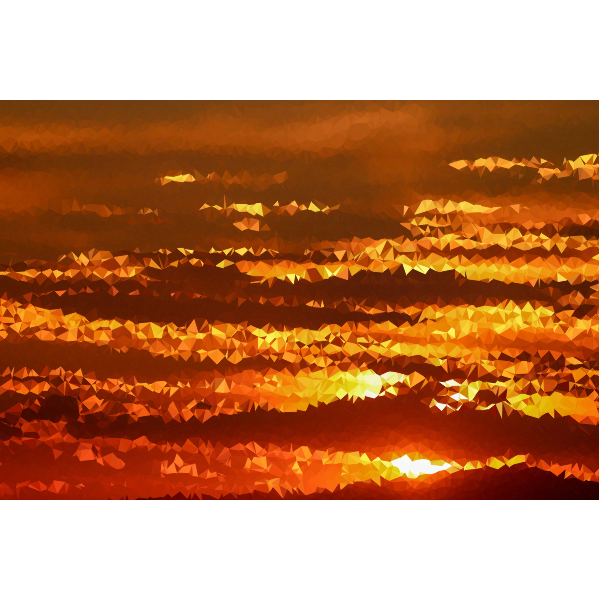 Low Poly Golden Sunset 3