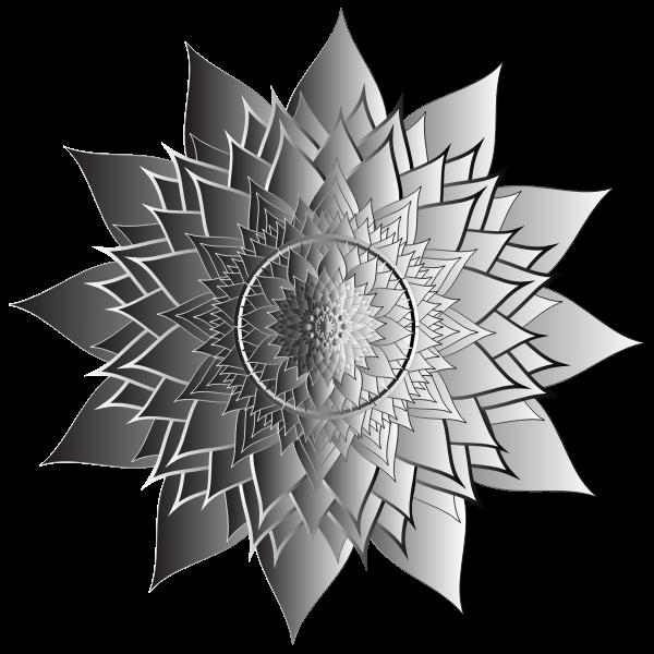 Duochromatic Floral Mandala