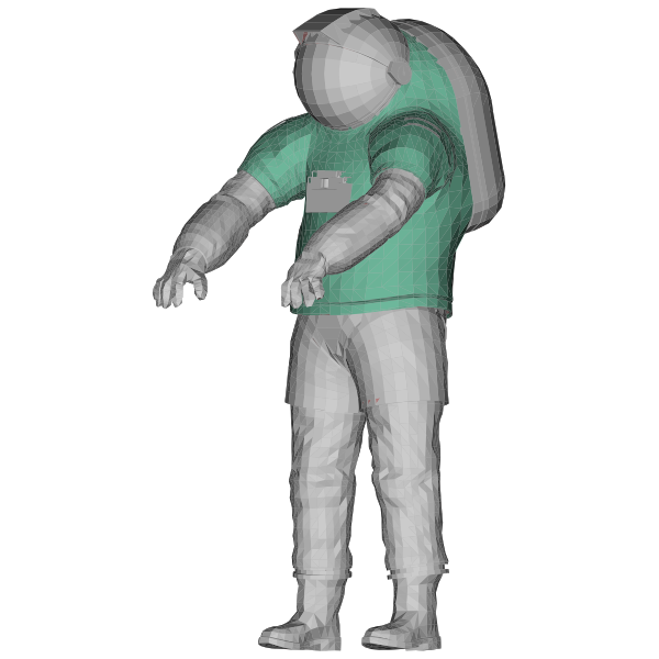 Nasa Spacesuit 3D Rotated