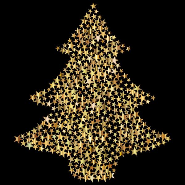 Christmas Tree Stars Gold