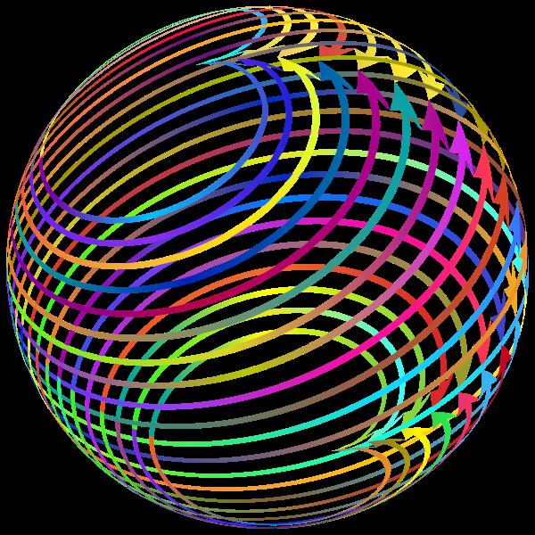 Arrows Sphere Polyprismatic