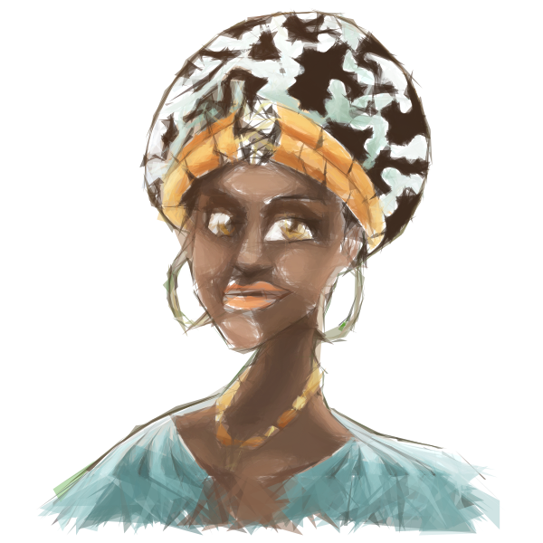 African Woman Illustration Geometric