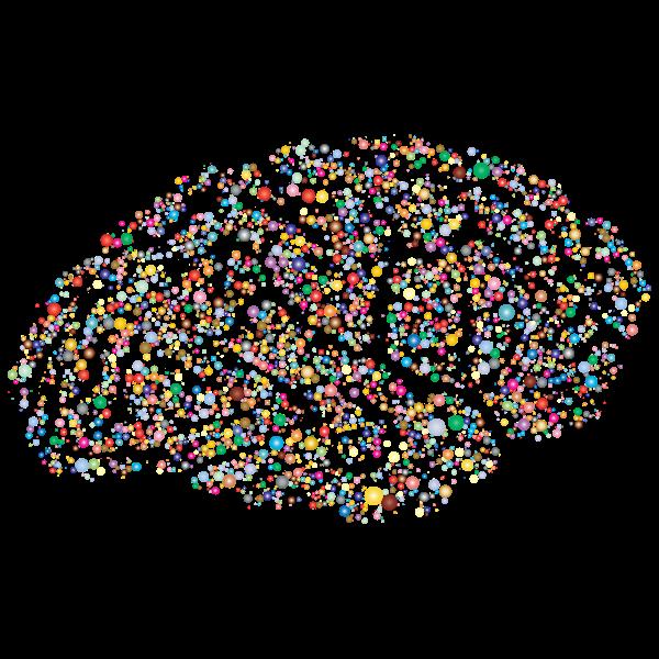 Brain Silhouette Circles Prismatic 2