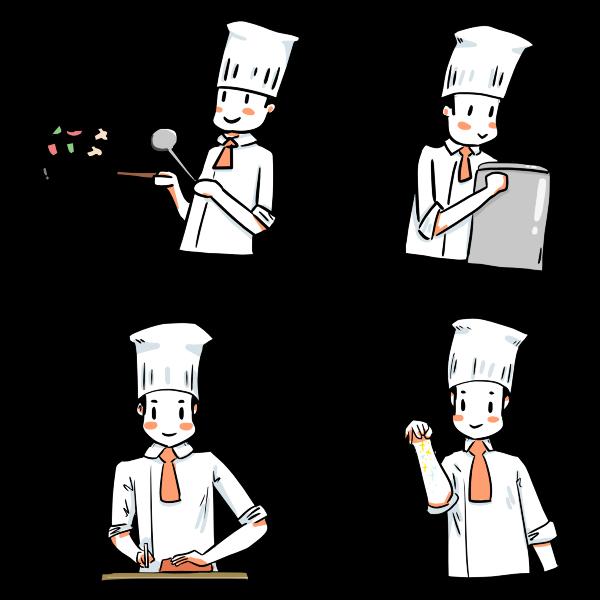 Cartoon Chef Illustrations
