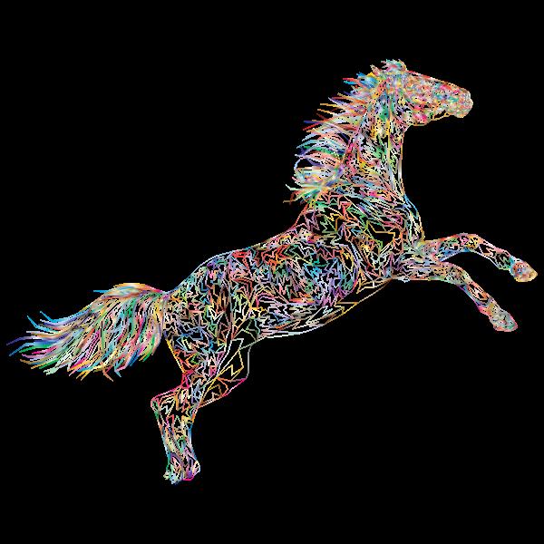 Raging Horse Wireframe Prismatic No BG