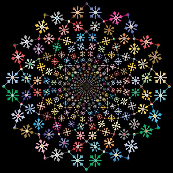 Decorative Floral Vortex Prismatic