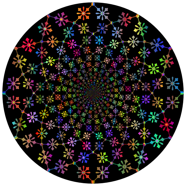 Decorative Floral Vortex Polyprismatic