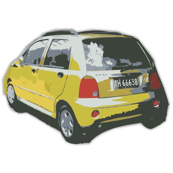 Small Yellow Chinese Car