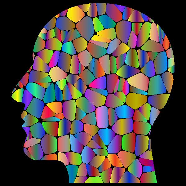 Man Head Tiles Polyprismatic