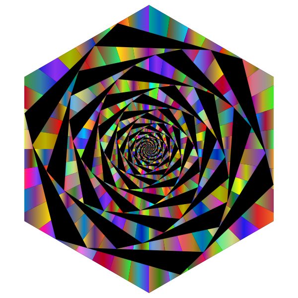 Hypnotic Hexagonal Maelstrom Polyprismatic