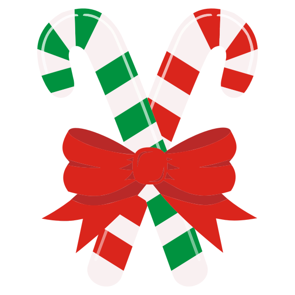 Candy Canes With A Bow