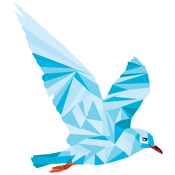 Low Poly Blue Bird