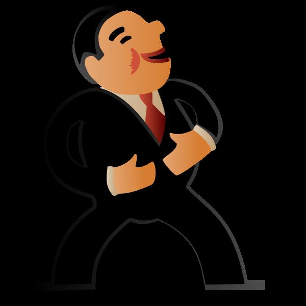 Laughing Business Man -Gradient Remix