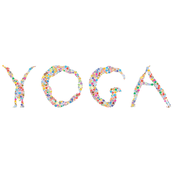 Yoga Circles Typography Prismatic