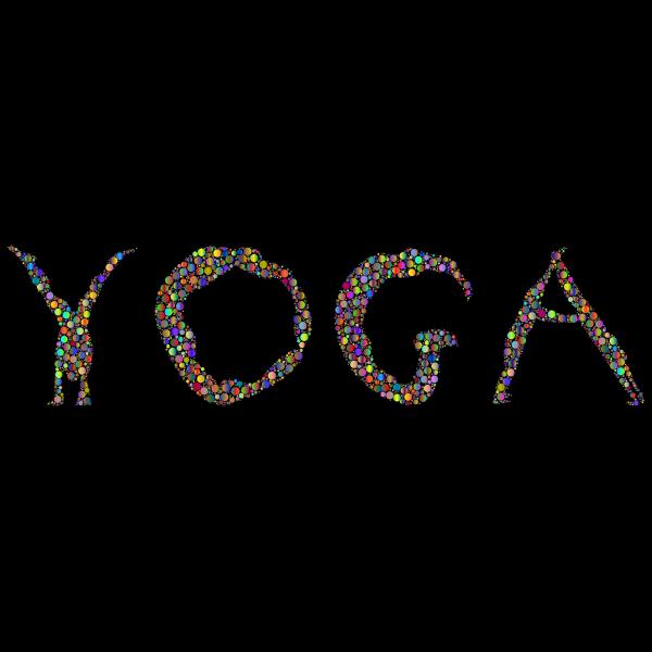 Yoga Circles Typography Polyprismatic With BG