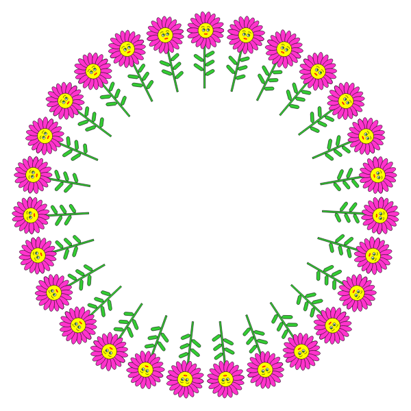 Anthropomorphic Flower Frame