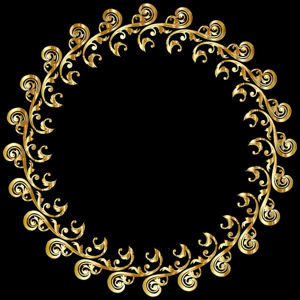 Flourish Ornament Silhouette Frame Gold