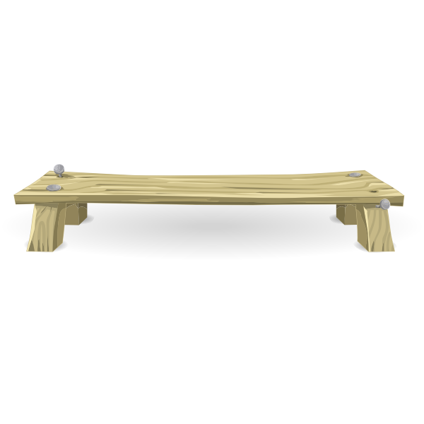 Wooden bench from Glitch