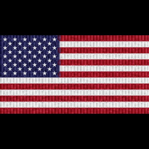 American Flag Rectangular