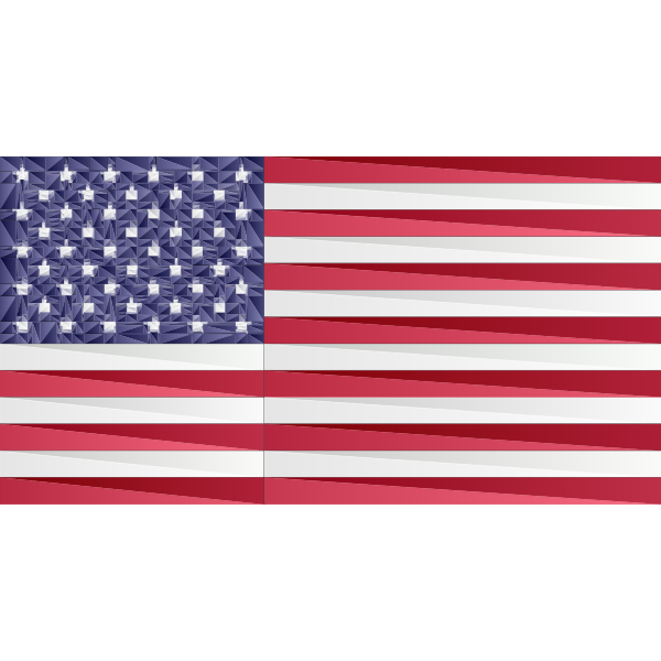 American Flag Triangular