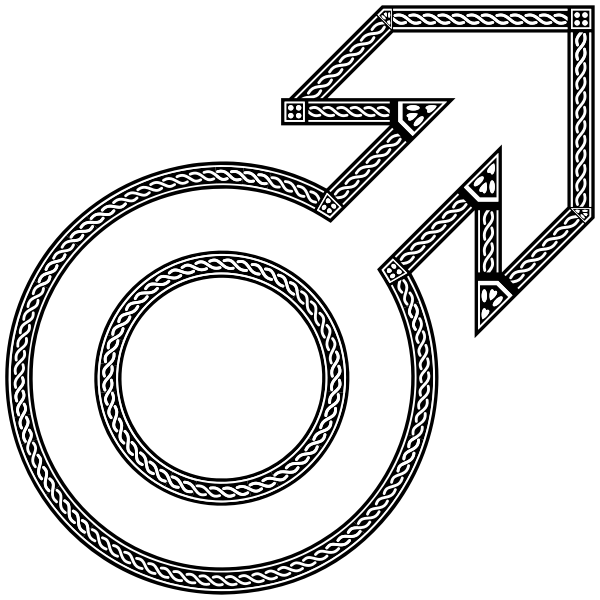 Decorative Chain Male Symbol