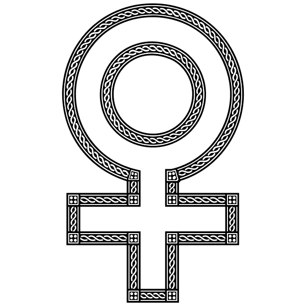 Decorative Chain Female Symbol