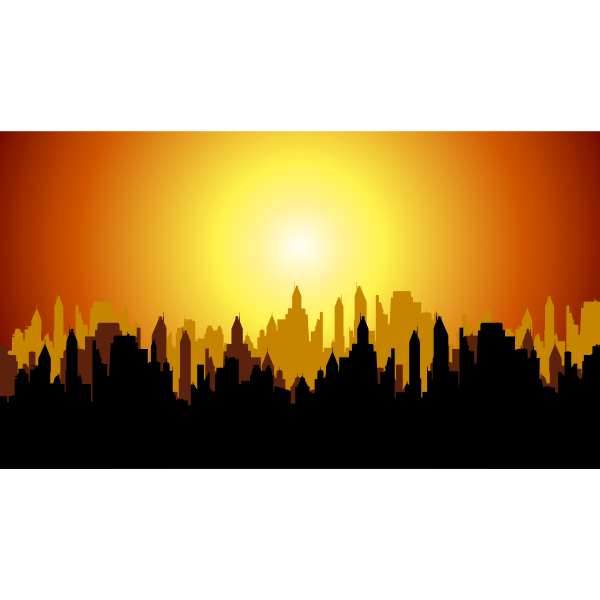 Fictional City Sunset