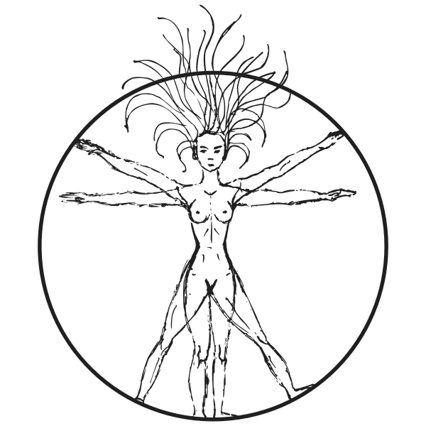 Vitruvian Woman By Victoria Borodinova With Circle