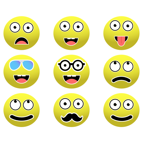 Smileys Set By Conmongt