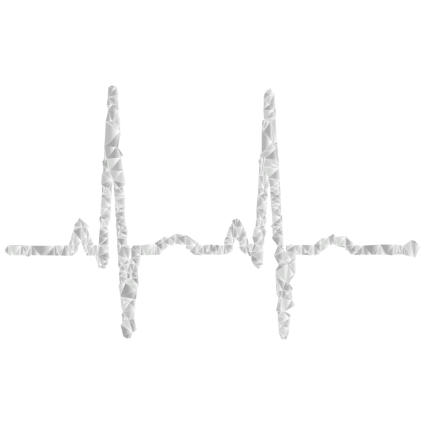 EKG Rhythm Low Poly