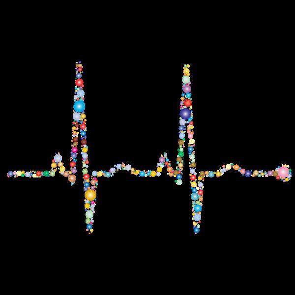 EKG Rhythm Circles Prismatic