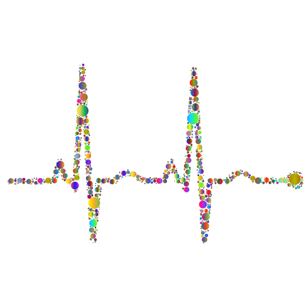 EKG Rhythm Circles Polyprismatic