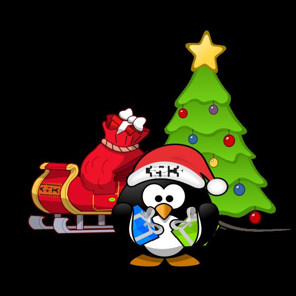 Christmas Tux on #35c3