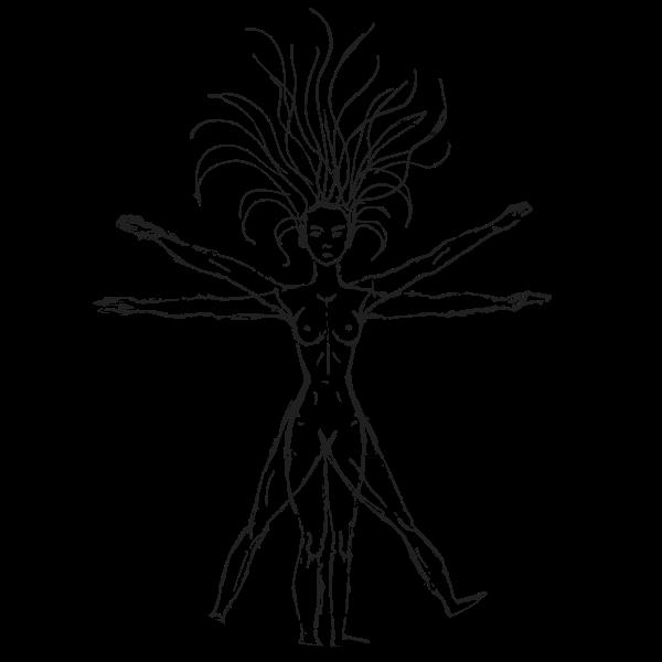 Vitruvian Woman By Victoria Borodinova With Sketched Circle