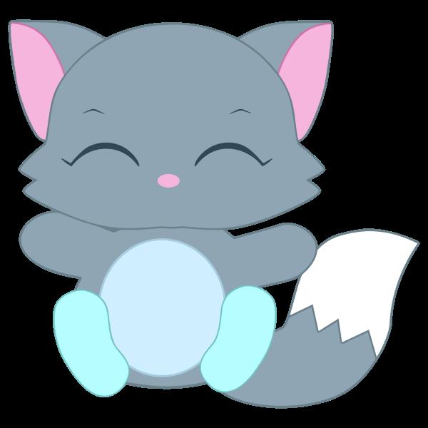 Download Cute Kitten Illustration | Free SVG
