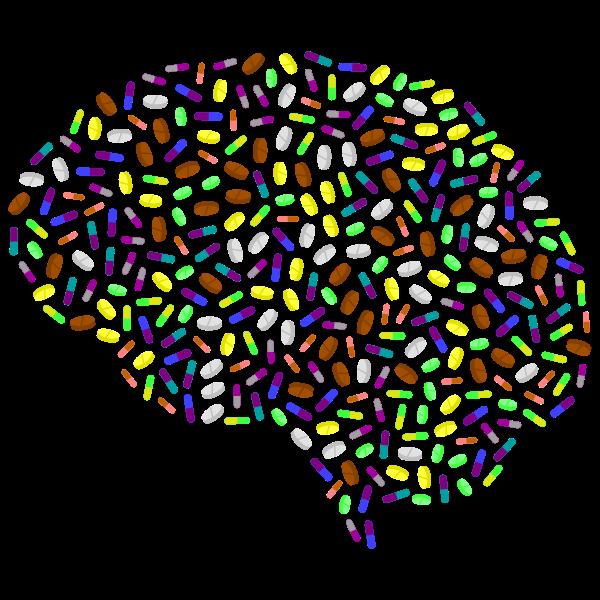 Brain made of pills