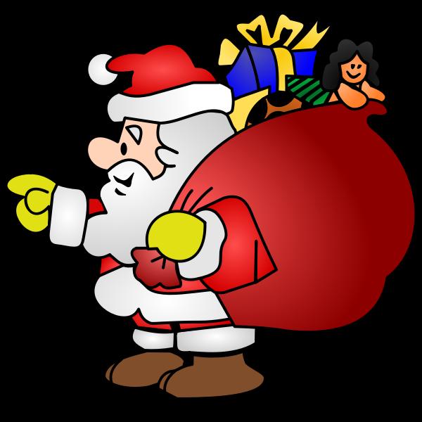 Santa - Yellow Gloves