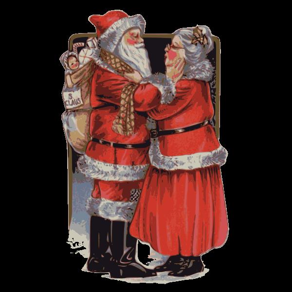 Mrs Claus and Santa