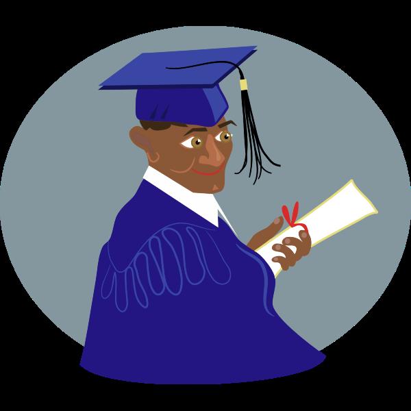 African Guy Graduates