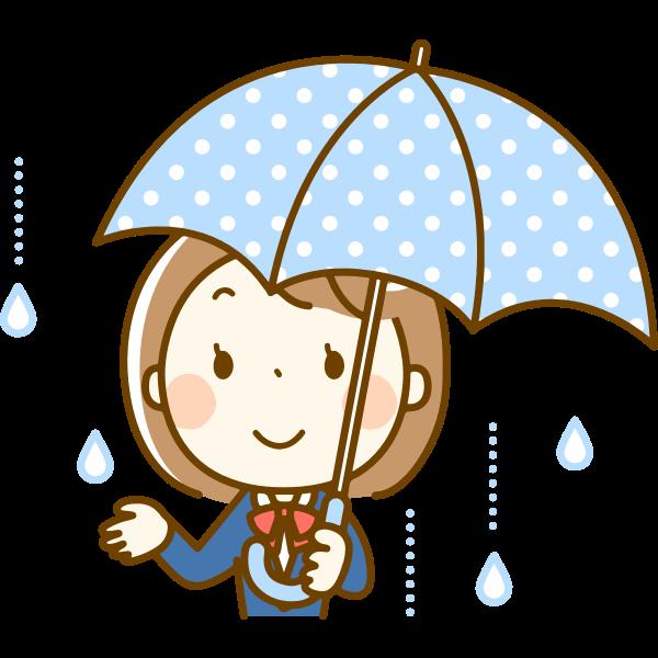 Schoolgirl with umbrella