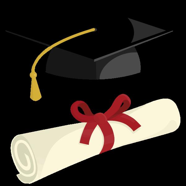 Graduation Cap And Diploma By Pinterastudio