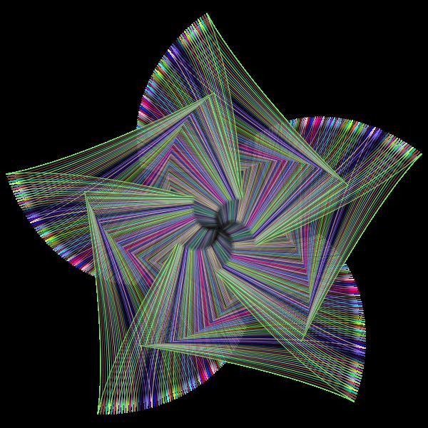 Geometric Line Art Star Prismatic
