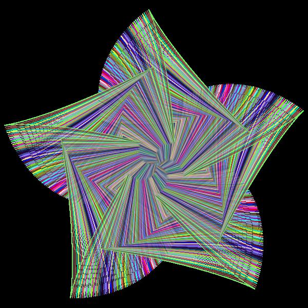 Geometric Line Art Star Prismatic No BG