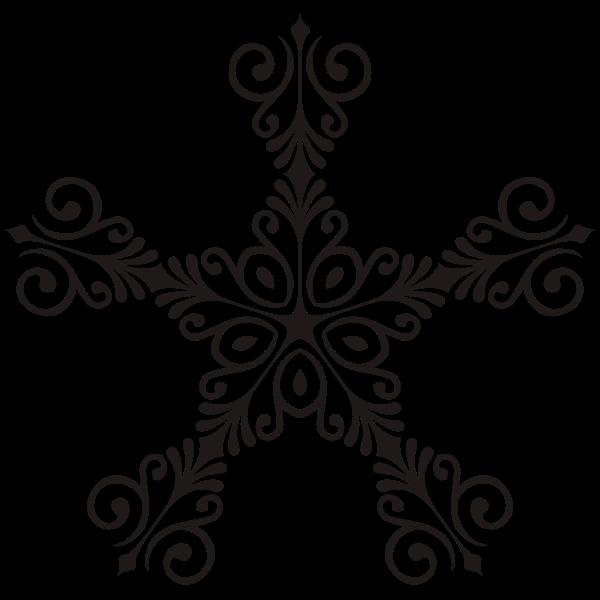 Art Deco Style Flourish Star