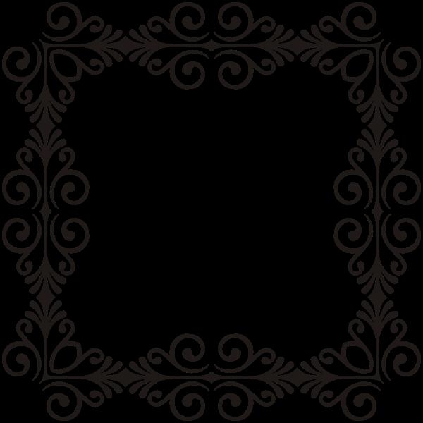Art Deco Style Flourish Frame 11