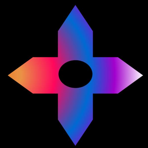 Colorful Cross Arrow Shape