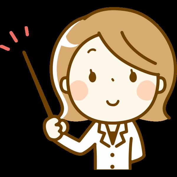 Female instructor animation
