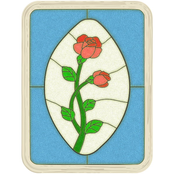 Srained Glass Rose Window